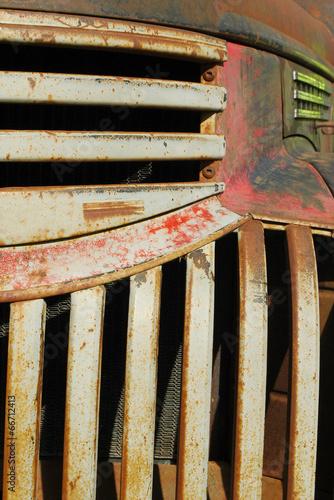 Wall mural rust bucket pickup truck abstract