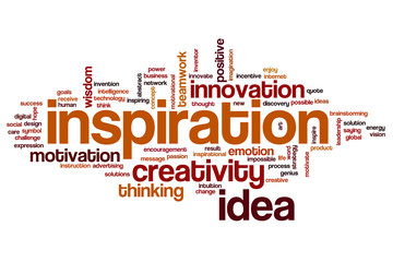 Inspiration word cloud