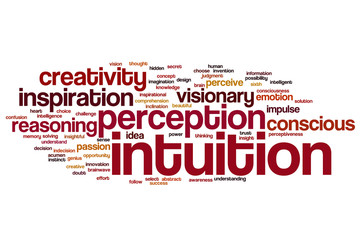 Intuition word cloud
