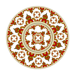 decorative element with Indian ornament