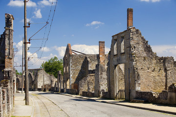 Panoramic of the french village of Oradour-sur-Glane