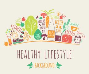 Obraz healthy lifestyle background - fototapety do salonu