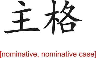 Chinese Sign for nominative, nominative case