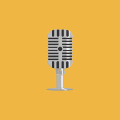 Abstract Colorful Microphone Isolated On Color Background