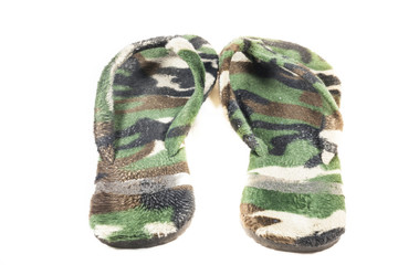 slippers Camouflage military