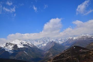 High Mountain Range in Yunnan, China