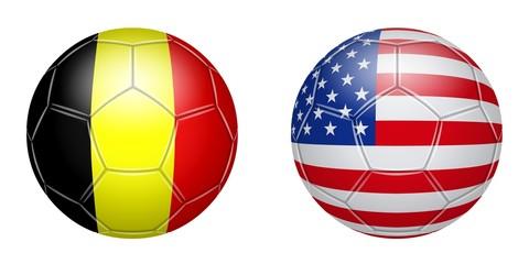 Soccer. Belgium - USA