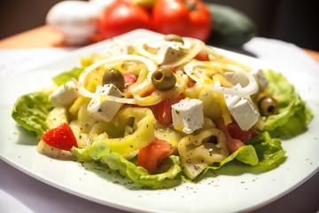 Salad Stills: Greek Salad - Stock Image
