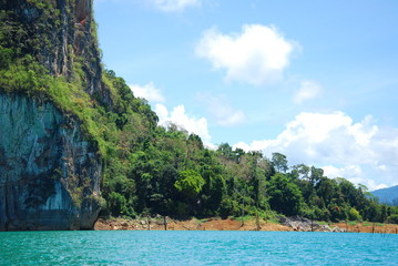 mountain island in south of thailand