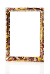 Colorful wooden frame for pictures or the photos