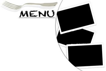 fond pour carte du menu et photos
