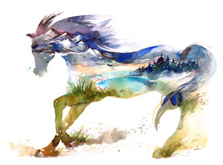 Photo sur Plexiglas Peintures horse