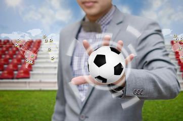 Businessman invest in soccer team