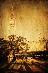 Fototapete - Big Ben mit nostalgischer Textur