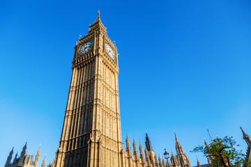 Fotomurales - Big Ben vor blauem Himmel