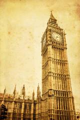 Fototapete - antik texturiertes Bild des Big Ben