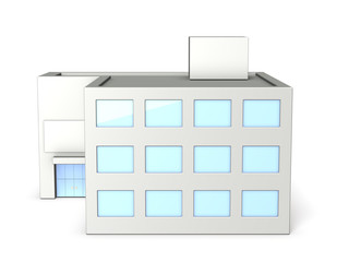 Architectural models of office building