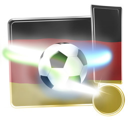 Germany Soccer Board Exclamation Mark