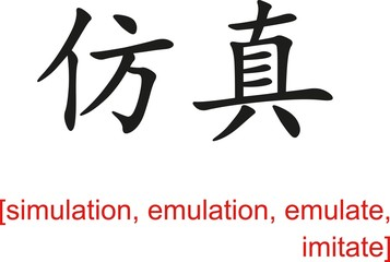 Chinese Sign for simulation, emulation, emulate, imitate