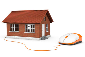 Brick House connected to a computer mouse