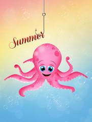 Octopus in summer