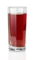 The glass of grape juice