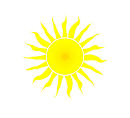 Yellow sun - vector illustration.