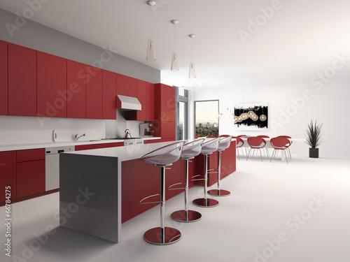 moderne luxuri se k che mit theke und barhockern. Black Bedroom Furniture Sets. Home Design Ideas