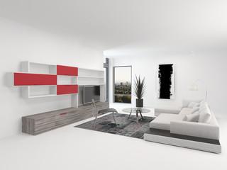 Modernes luxuriöses Wohnzimmer Interieur (Interior)