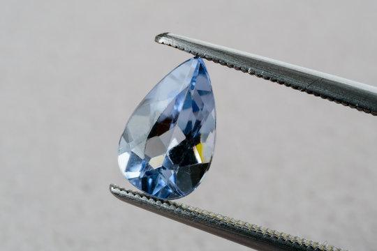 Blue aquamarine beryl