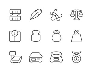 Outline Scales and Rulers Icons