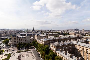 Parispanorama von der Kathedrale Notre Dame