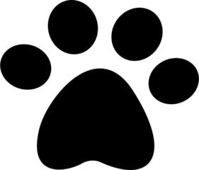 pet paw icon vector