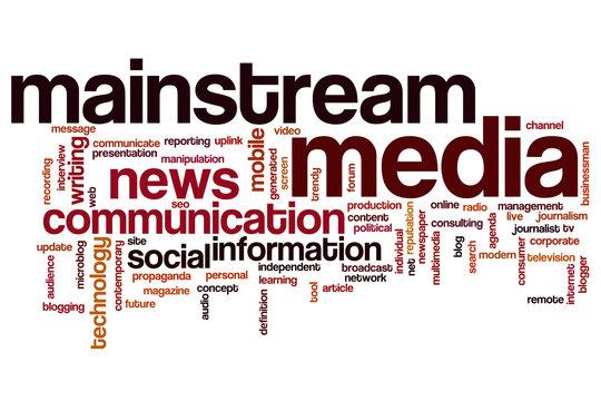 Mainstream media word cloud