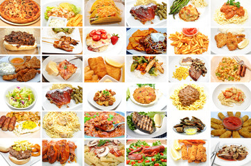 Restaurant Meals Collage