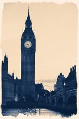Vintage Retro Picture of Big Ben