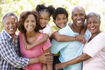 Multi-generation  family in park