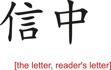 Chinese Sign for the letter, reader's letter