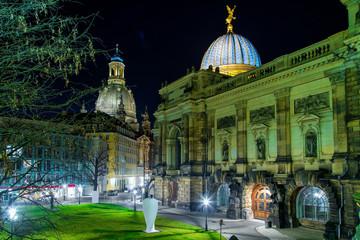 Вид ночью на Старый Дрезден