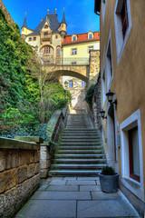 Старинная улица город Мейссен. Германия