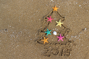 Christmas and New Year on the beach