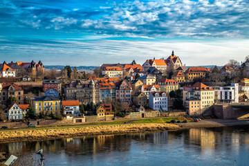 Вид на город Мейссен. Германия