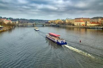 Вид на реку Влтава в Праге