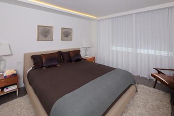 Stock image of a condo bedroom