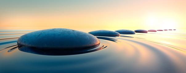 Steine im Wasser 3 Fototapete