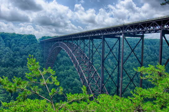West Virginia's New River Gorge bridge carrying US 19 over the g