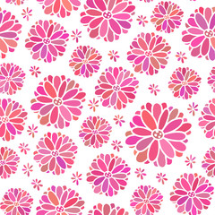 Seamless color decorative flower pattern