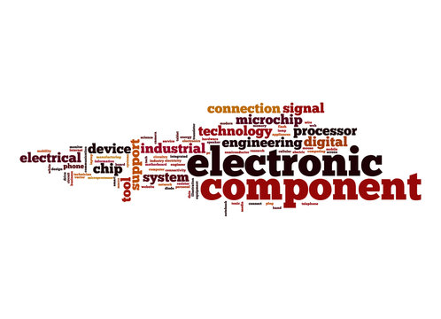 Electronic component word cloud