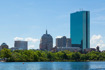 Boston skyline from waterfront , Massachusetts, USA