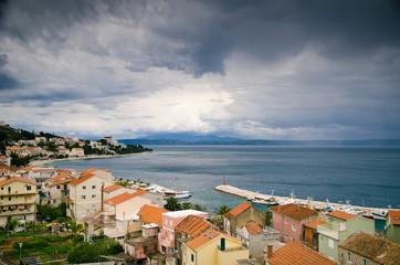 city by the sea. Croatian coast